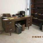 office desk and shelf