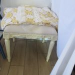 white stool